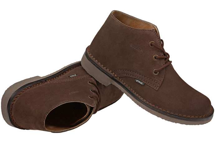 Kultowe trzewiki buty STEEL 280-W6 Brązowe