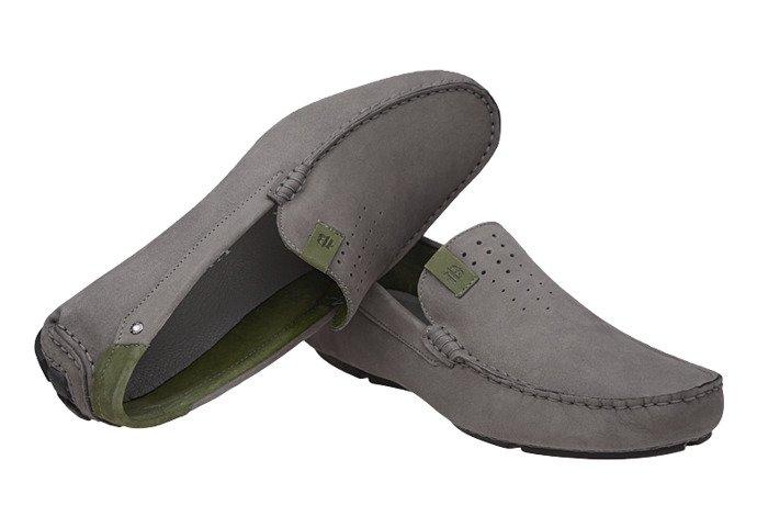 Mokasyny buty wsuwane BADURA 3153 Popielate