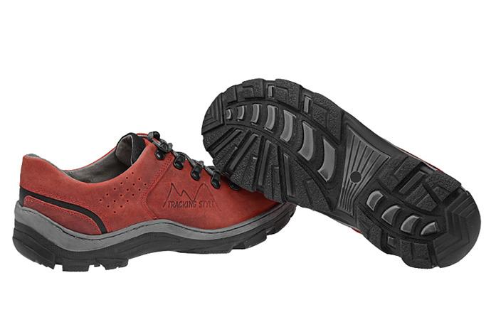 Półbuty buty trekkingowe KORNECKI 1392 Czerwone