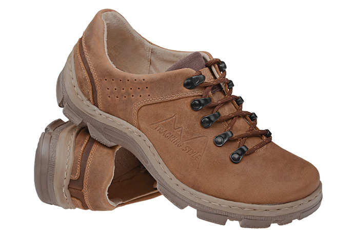 Półbuty buty trekkingowe KORNECKI 1392 Koniakowe