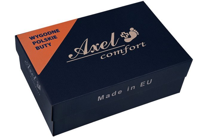 Półbuty na rzepy AXEL Comfort 1705 Czarne K