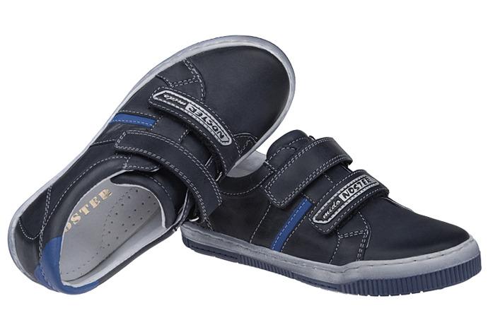 Półbuty na rzepy buty MIDO NOSTER 436 Granatowe