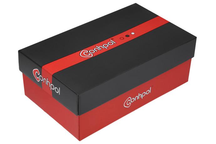 Półbuty wizytowe CONHPOL C-3211 Czarne