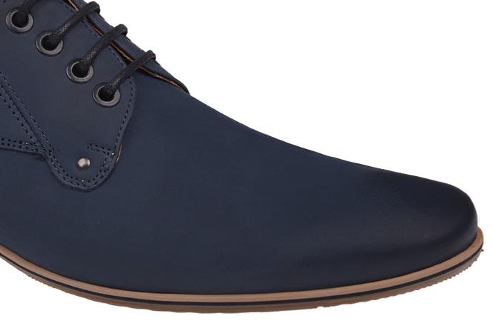 Półbuty wizytowe buty CONHPOL C-2554 Granat
