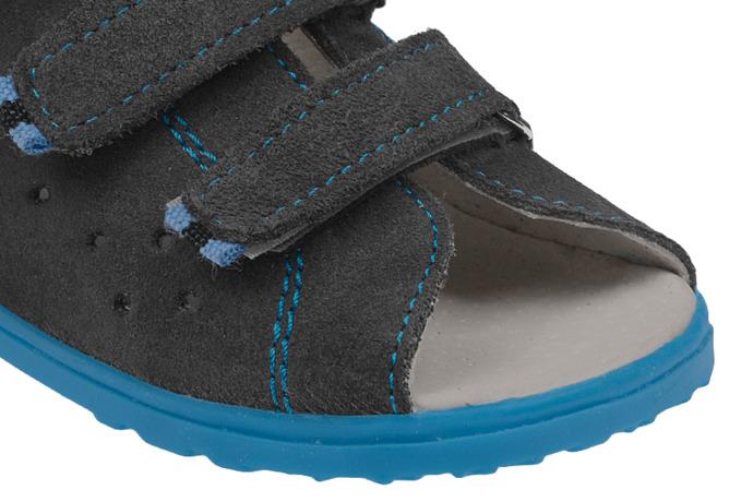 Sandałki Profilaktyczne Ortopedyczne Buty DAWID 1041 Szary SZN
