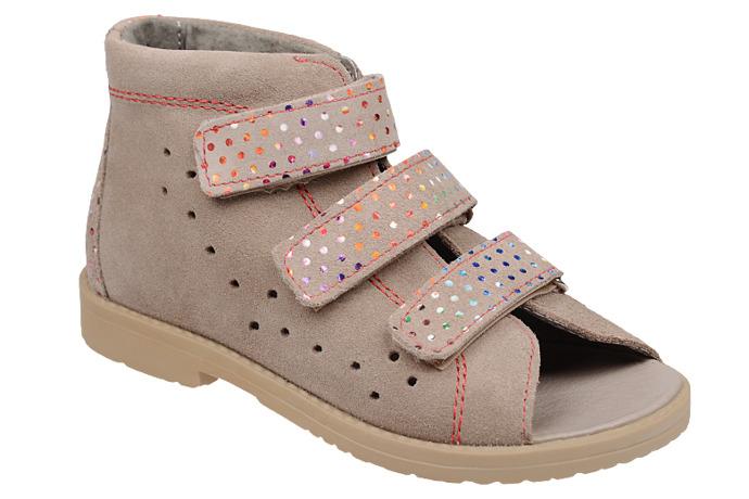 Sandałki Profilaktyczne Ortopedyczne Buty DAWID 1042 Beżowe BKR