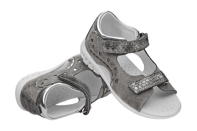 Sandałki dla dziewczynki KORNECKI 4735 Popielate