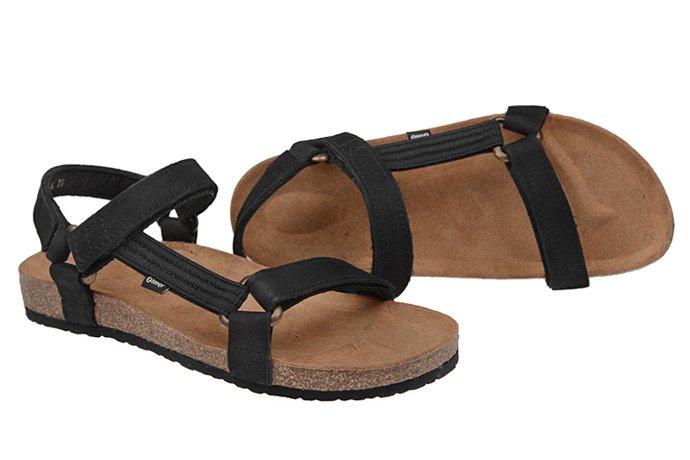 Sandały OTMĘT 405CP Czarne NaturForm Fussbett