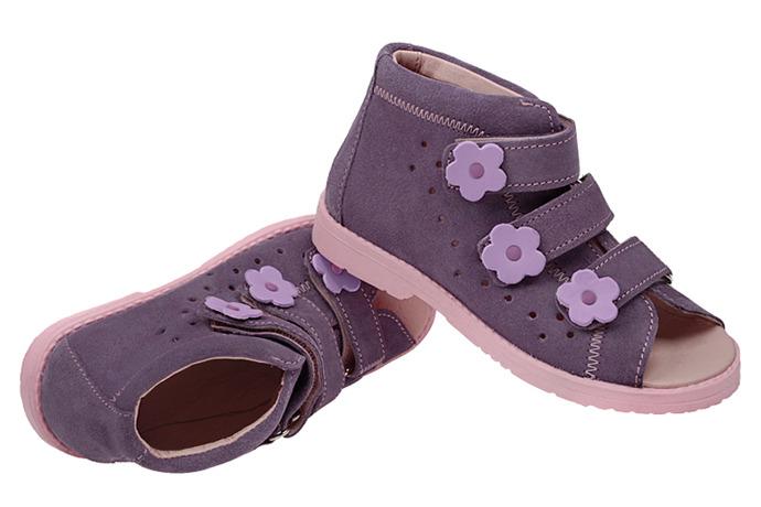 Sandały Profilaktyczne Ortopedyczne Buty DAWID 1043 Fiolet FJ