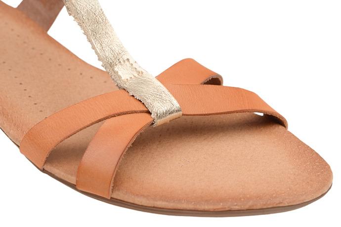 Sandały damskie VERONII 3491 Brązowe+Złoty