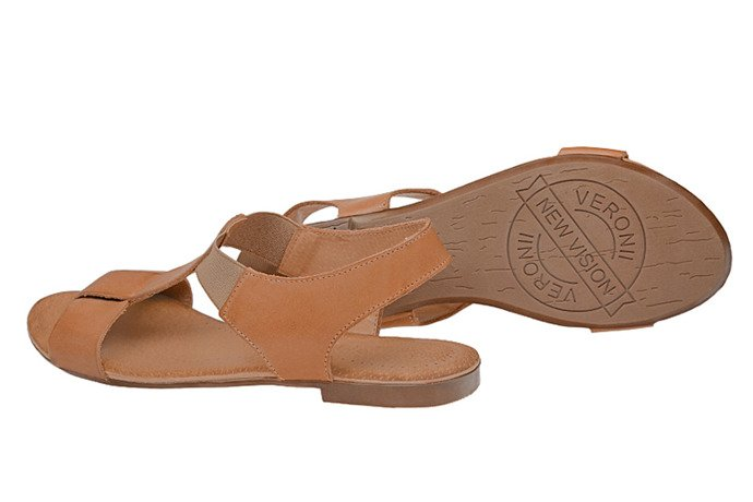Sandały damskie VERONII 3495 Brązowe Sienna