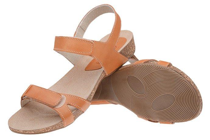 Sandały damskie VERONII 5211 Rudy Brąz