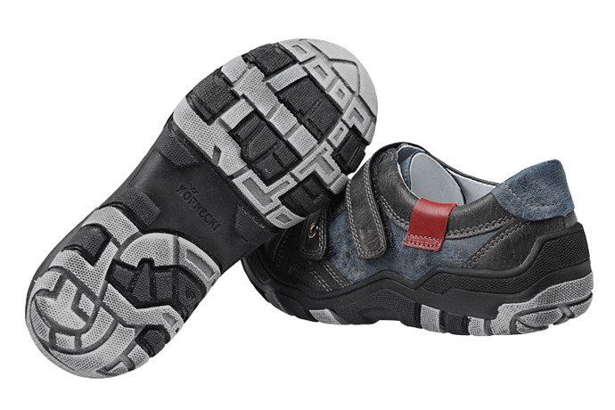 Sneakersy Półbuty KORNECKI 4921 Grafitowe na rzepy