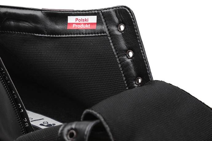 Trzewiki Botki AXEL Comfort 1424 Czarne ocieplane