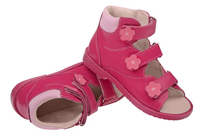 Trzewiki Profilaktyczne Ortopedyczne Buty DAWID 953-2 RC Różowe