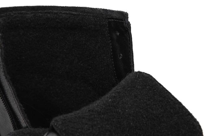 Trzewiki zimowe BADURA 4613-1075 Czarne ocieplane
