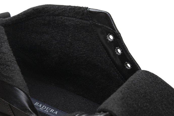 Trzewiki zimowe BADURA 4711-387 Czarne ocieplane