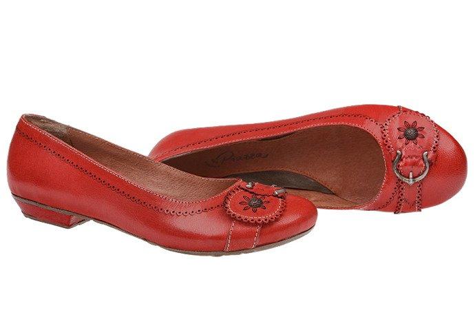 Włoskie Balerinki PIAZZA 830049-4 Czerwone