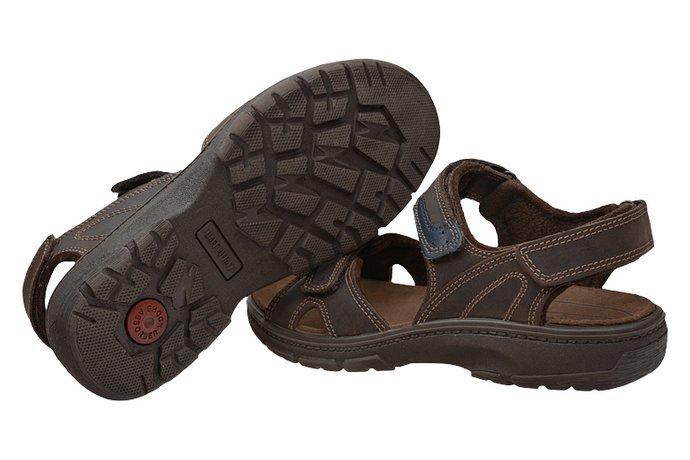 Włoskie Sandały IMAC 702820 Brązowe na rzepy