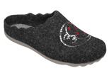 Kapcie Pantofle domowe Ciapy MANITU 320466-9 Grafitowe