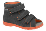 Sandałki Profilaktyczne Ortopedyczne Buty DAWID 1041 Szary SZ PP+JW